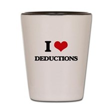 I Love Deductions Shot Glass