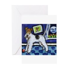 Unique Fox terrier breed art Greeting Card