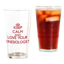 Keep Calm and love your Kinesiologi Drinking Glass