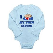 Cute Twin boys Long Sleeve Infant Bodysuit