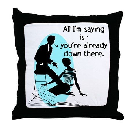 Oral Sex Talk Throw Pillow