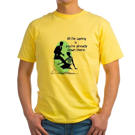 Oral Sex Talk Yellow T-Shirt