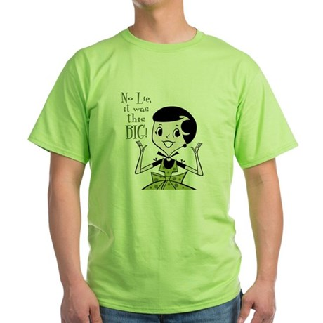 This Big Adult Humor Green T-Shirt