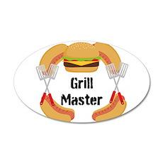 Grill Master Hamburgers Hot Dots Wall Decal