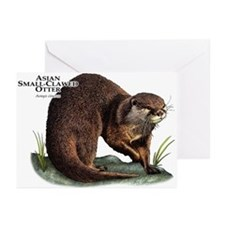 Asian Small-Clawed Otter Greeting Cards (Pk of 10)