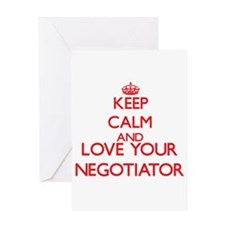 Keep Calm and love your Negotiator Greeting Cards