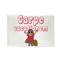 Carpe Vacationem f Rectangle Magnet (10 pack)