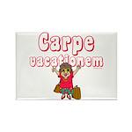 Carpe Vacationem f Rectangle Magnet