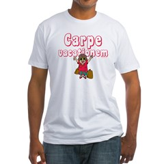 Carpe Vacationem f Fitted T-Shirt