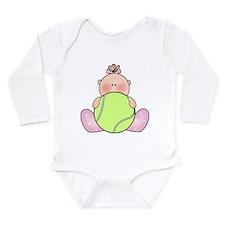 Unique Tennis baby Long Sleeve Infant Bodysuit