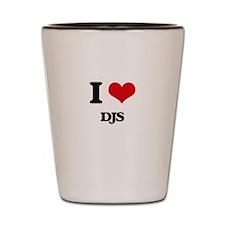 I Love DJs Shot Glass