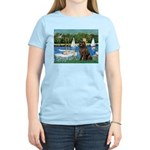 Sailboats & Newfoundland Women's Light T-Shirt