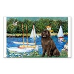 Sailboats & Newfoundland Sticker (Rectangle)