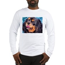 Black & Tan Cavalier King Cha Long Sleeve T-Shirt