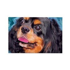 Black & Tan Cavalier King Cha Rectangle Magnet (10