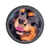 Black & Tan Cavalier King Cha Wall Clock