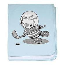 Cute Hockey mens baby blanket