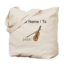 Custom Violin And Musical Notes Tote Bag