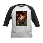 Angel & Newfoundland (B2S) Kids Baseball Jersey