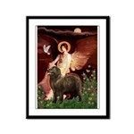 Angel & Newfoundland (B2S) Framed Panel Print
