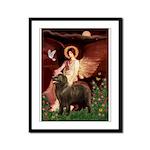 Angel & Newfoundland (B2S) Framed Panel Print
