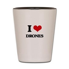 I Love Drones Shot Glass