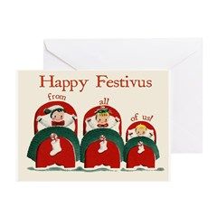 """Festivus Wishes From All Of Us"" Cards (Pk of 10)"