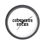 Columbus Sucks Wall Clock