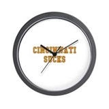 Cincinnati Sucks Wall Clock