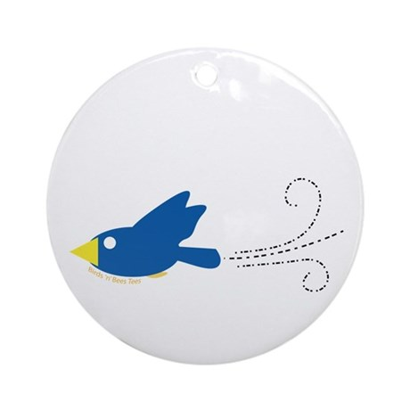 Twin A Flying Bird Ornament (Round)