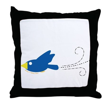 Twin A Flying Bird Throw Pillow