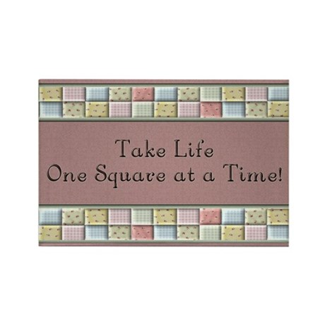 Quilting Rectangle Magnet