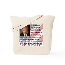 Thompson on Judges Tote Bag