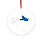Twin B Flying Bird Ornament (Round)