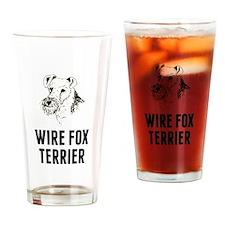 Wire Fox Terrier Drinking Glass