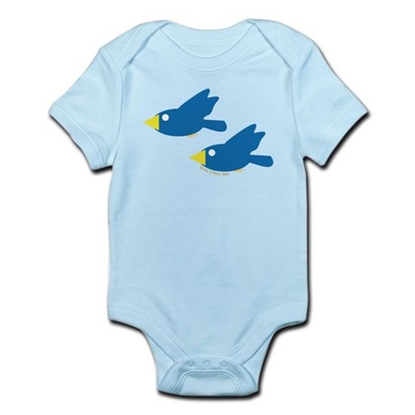 Twin Parent Birds Infant Bodysuit