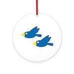 Twin Parent Birds Ornament (Round)