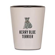 Kerry Blue Terrier Shot Glass