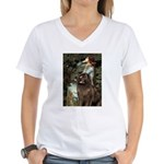 Ophelia / Newfoundland Women's V-Neck T-Shirt