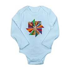 Roosters Rock Long Sleeve Infant Bodysuit