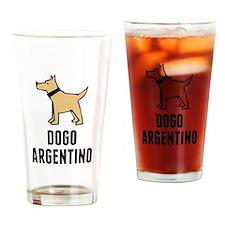 Dogo Argentino Drinking Glass
