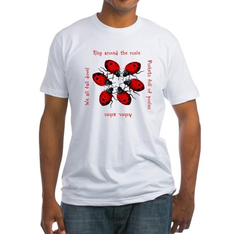 Ladybugs Playing Fitted T-Shirt