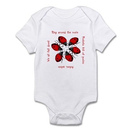 Ladybugs Playing Infant Bodysuit