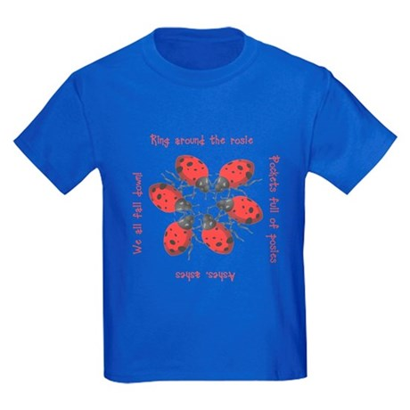 Ladybugs Playing Kids Dark T-Shirt
