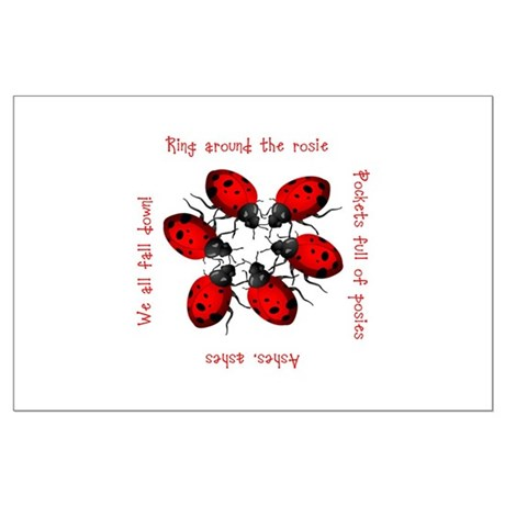 Ladybugs Playing Large Poster