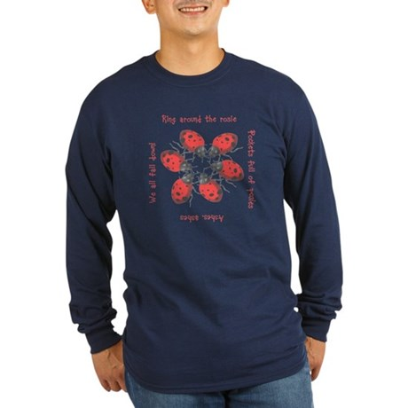 Ladybugs Playing Long Sleeve Dark T-Shirt