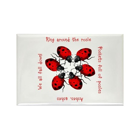 Ladybugs Playing Rectangle Magnet (10 pack)