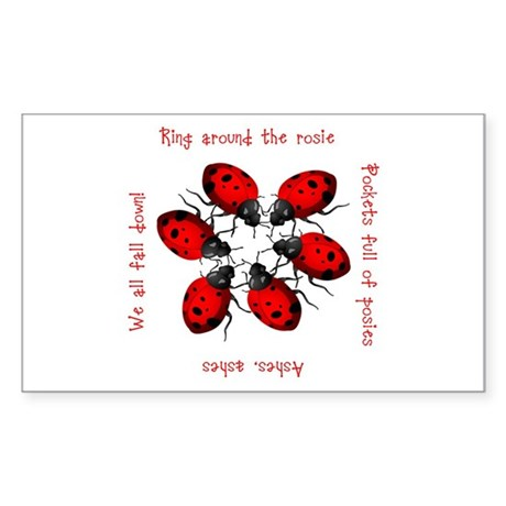 Ladybugs Playing Rectangle Sticker