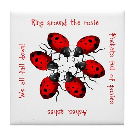 Ladybugs Playing Tile Coaster