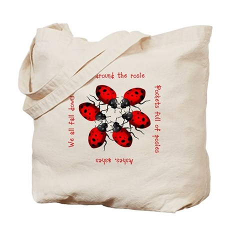 Ladybugs Playing Tote Bag